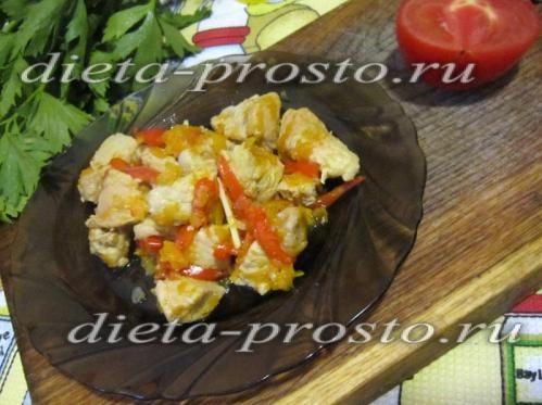 Азу з індички з овочами в мультиварці