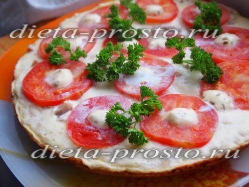 рецепт дієтичної піци