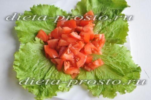 викладіть помідори