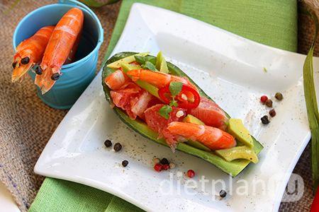 Салат з грейпфрутом і креветками