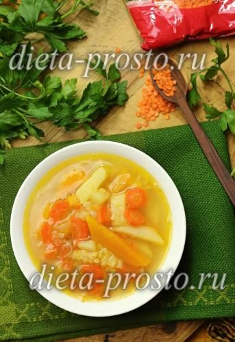 рецепт супу з гарбузом і сочевицею