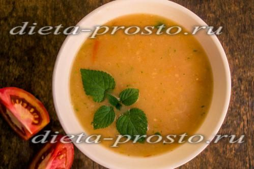 дієтичний суп пюре