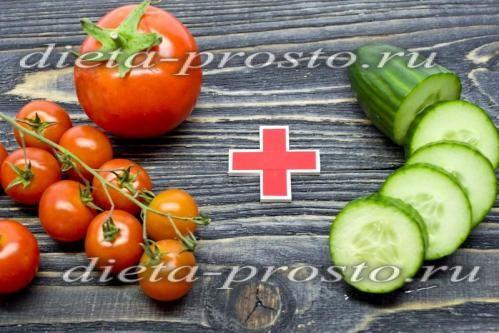 Підготувати огірок і помідори