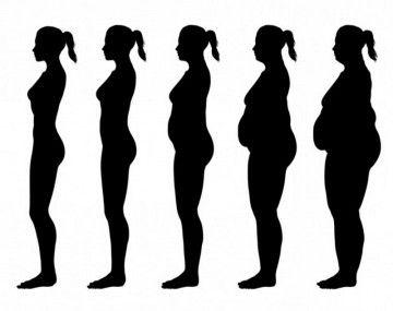 Силуети жінок з різною вагою