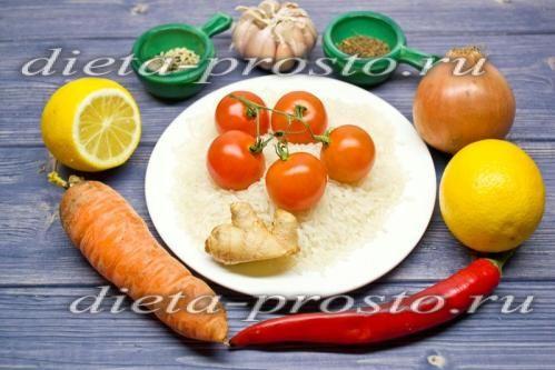 Індійський вегетаріанський плов з рисом жасмин і імбиром