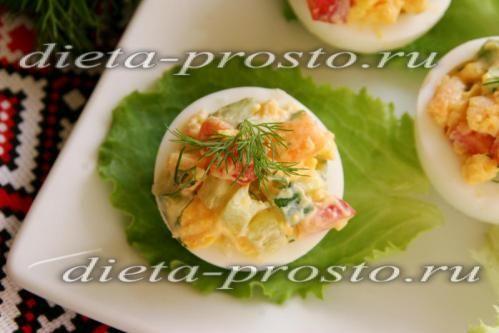 рецепт фаршированих яєць по Дюканов