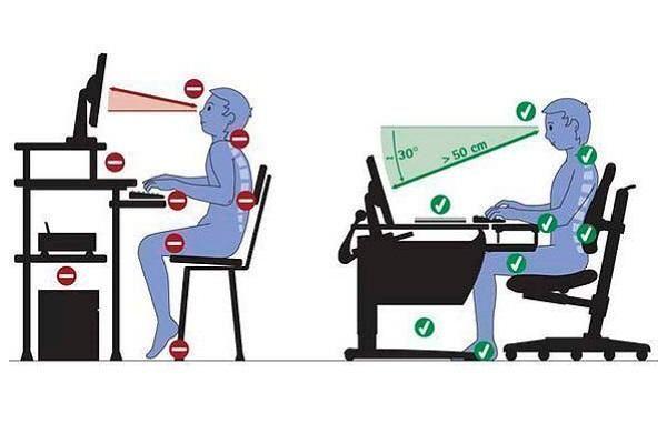 Як правильно сидіти за комп`ютером?