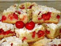 тертий пиріг з вишнею