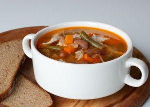 суп з квасолі і овочів