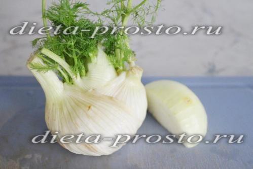 Крем-суп з фенхеля з цвітною капустою і цукіні