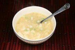 Курячий суп з яйцем і тофу