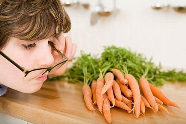 Морква покращує зір?