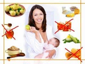 Заборонені продукти для матері-годувальниці