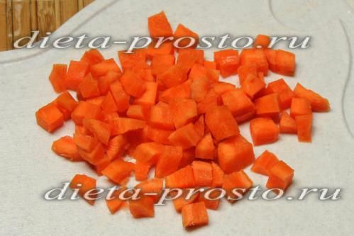 морква наріжте