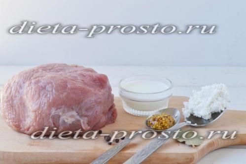Відварна телятина з сирним соусом по дюканов