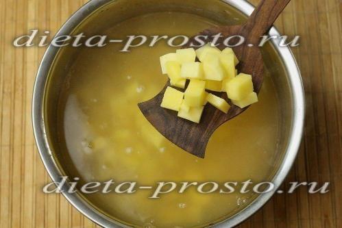 Додати в суп картопля