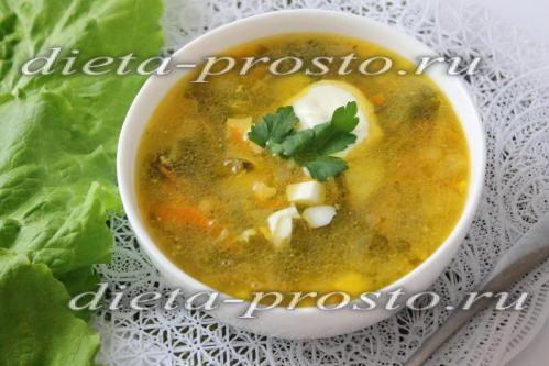 Рецепт зеленого борщу з фото