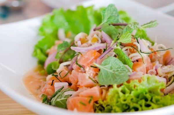 Рецепти приготування салатів з червоною рибою