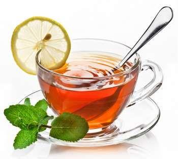 Чай з лимоном і м`ятою