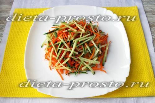 Викласти овочі на тарілку