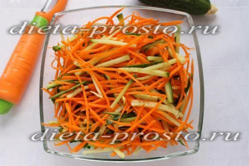 Змішати огірки з морквою