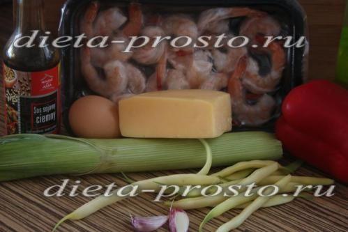 Інгредієнти для приготування салату з креветками