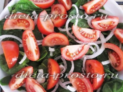 викладаємо томати в тарілку