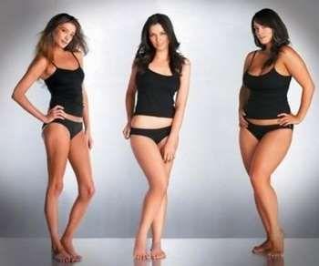 Три дівчини різної статури