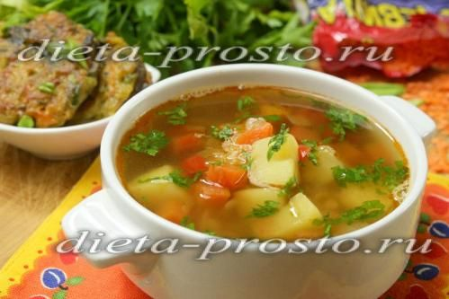 рецепт супу на курячому бульйоні з червоною сочевицею і овочами