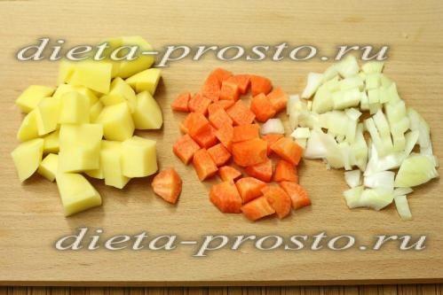 наріжемо овочі для супу