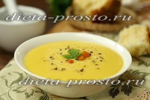 Суп-пюре з кабачків і картоплі (пісний рецепт)