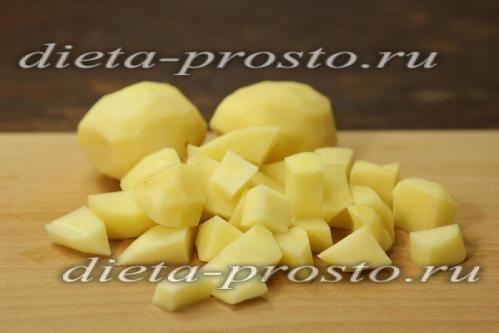 Картопля ріжемо дрібно