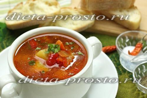 Суп з сочевицею і овочами - рецепт з фото