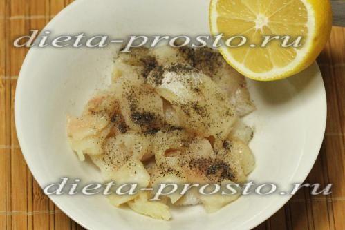 Темпура з риби і овочів