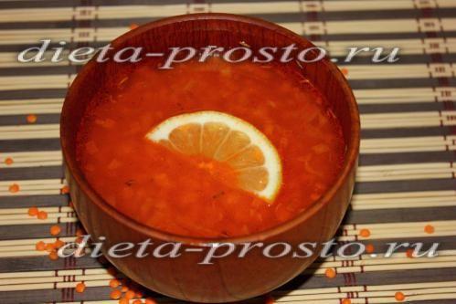 томатний суп з сочевицею рецепт