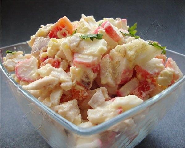 Варіації рецептів класичного крабового салату
