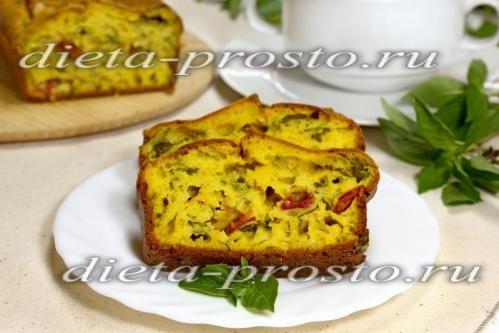 Закусочний пиріг-кекс з помідорами